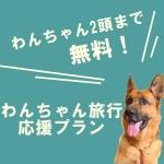 ペットちゃん宿泊無料プラン登場♪
